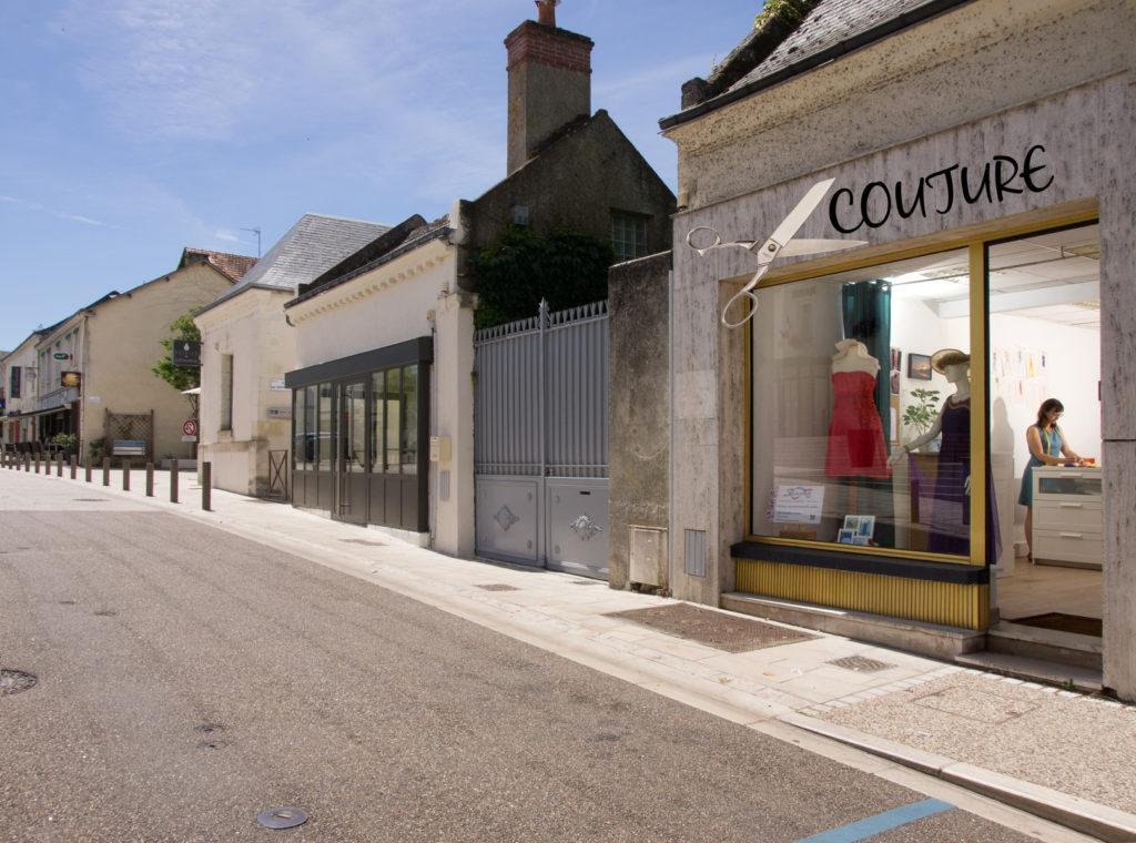 situation boutique Couturanath 1bis rue Georges Clémenceau à Montlouis-sur-Loire